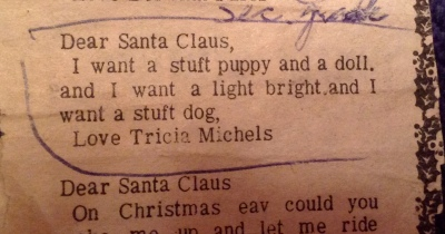 Grandma still had my letter to Santa 20 years after I wrote it